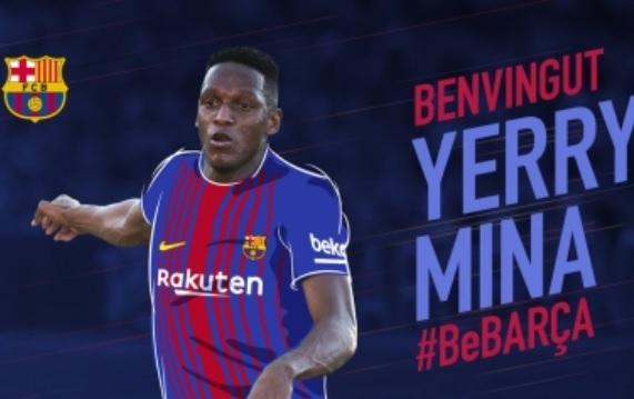 FC Barcelona oficializa fichaje de Yerry Mina