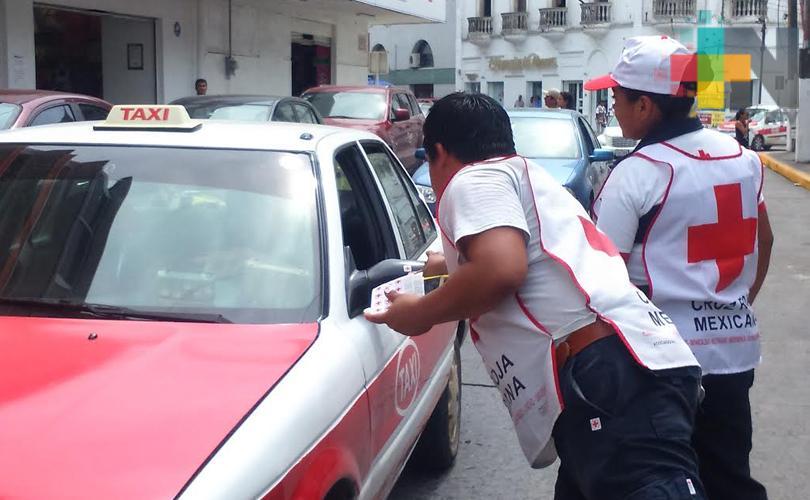 Cruz Roja en Tuxpan confía reunir 3 mdp en la colecta anual