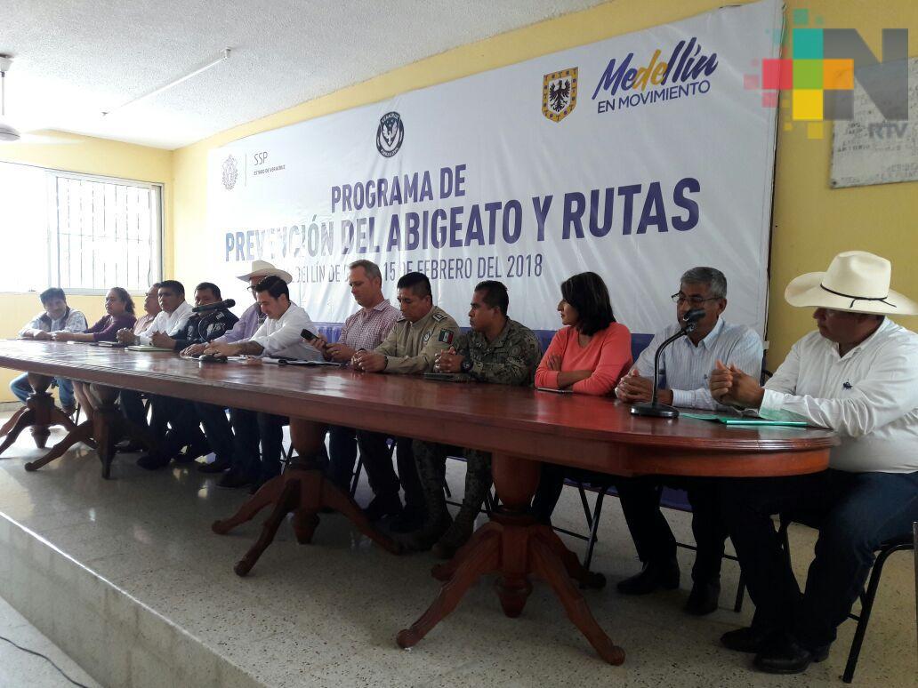 Inician programa contra el Abigeato en Medellín de Bravo