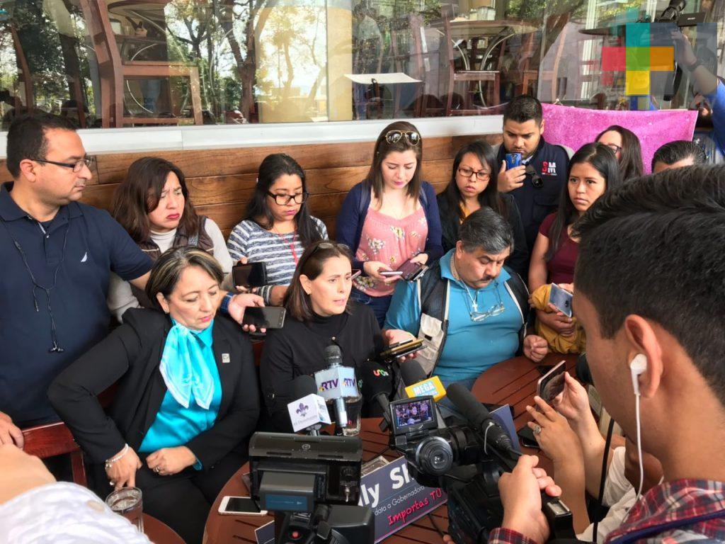 Confirma July Sheridan su precandidatura a la gubernatura de Veracruz