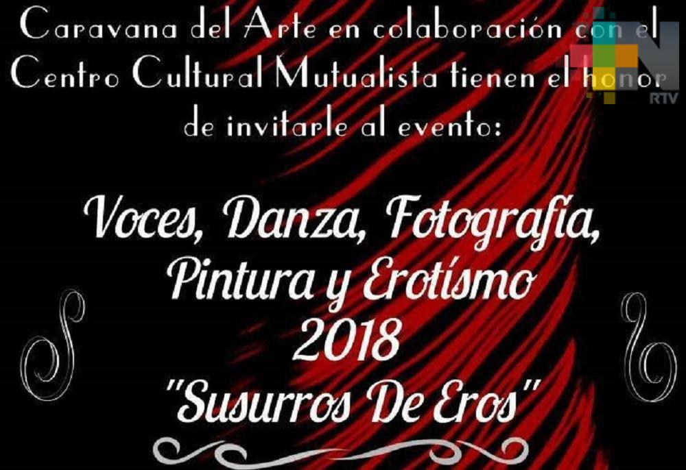 """Agrupación Caravana de Arte presenta la obra literaria """"Susurros de Eros"""""""