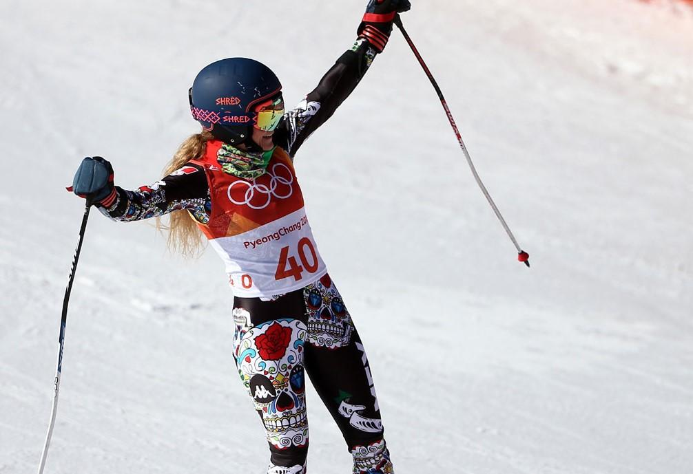 Mexicana Sarah Schleper resbala y termina sueño en Juegos Olímpicos de Invierno