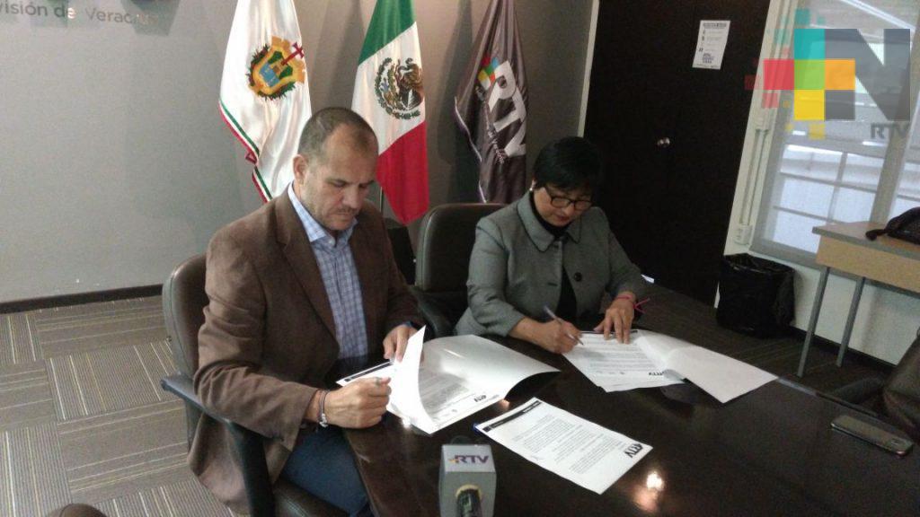 Firman convenio de colaboración el IVM y RTV