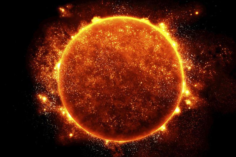 Sol produce dos pequeñas explosiones más grandes que la Tierra