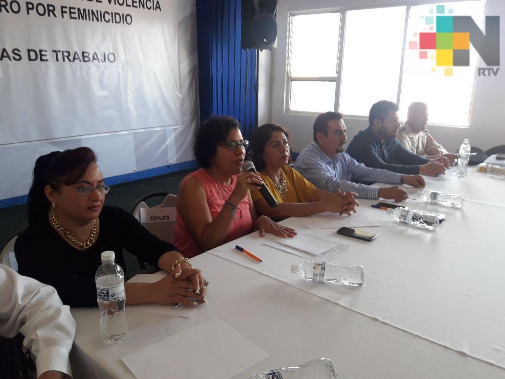 Realizan taller sobre violencia de género en Martínez de la Torre