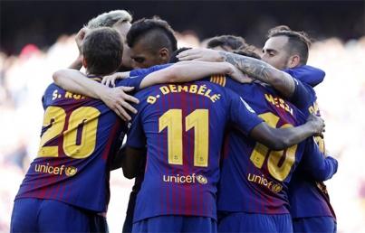 Barcelona continúa su invicto, golea 2-0 a Bilbao