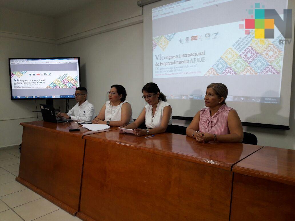 Del 23 al 27 de abril se realizará el VI Congreso Internacional de Emprendimiento AFIDE en Boca del Río