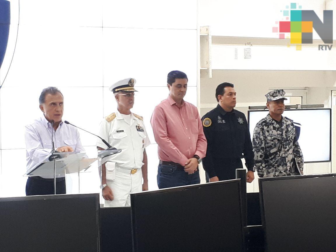 Gobernador Yunes indica que modificarán estrategias de seguridad en Coatzacoalcos y zona alta de montaña