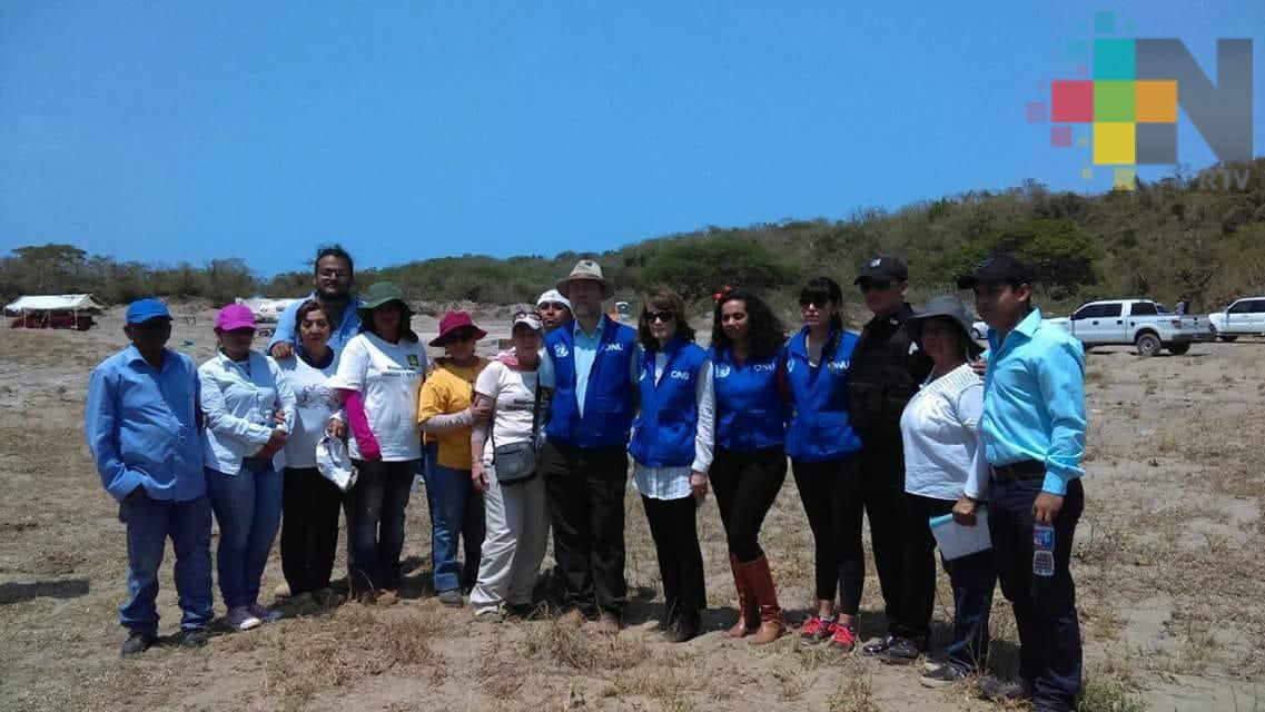 Comisionado de la ONU-DH visita predio de Colinas de Santa Fe