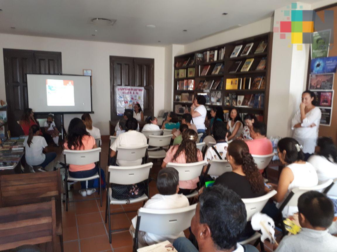 Estudiantes con discapacidades participaron en encuentro de lectura, en Veracruz puerto