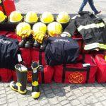 Entregan equipos de protección personal a bomberos de Veracruz