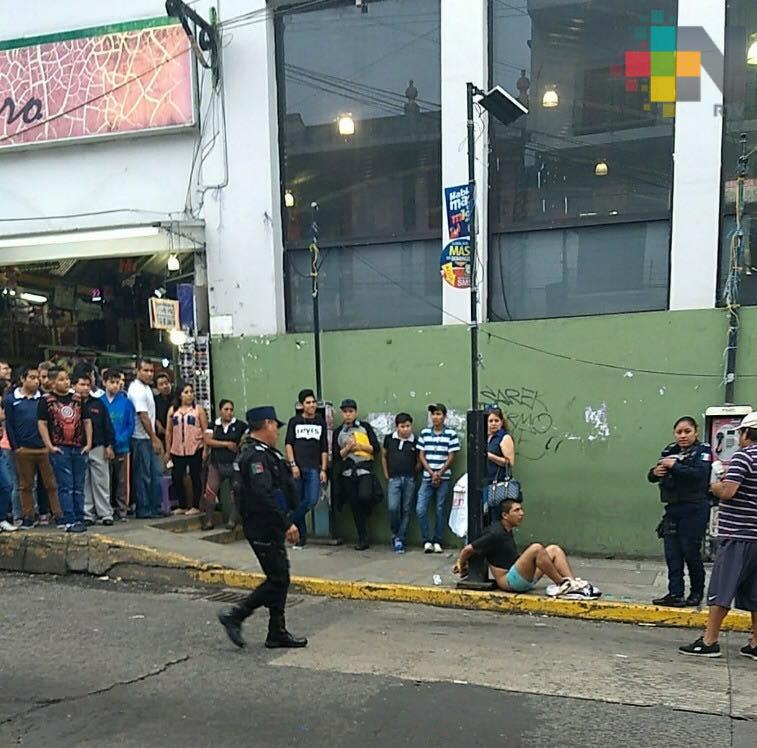 Comerciantes iban a linchar a supuesto ladrón en Plaza Clavijero
