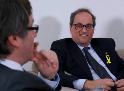 Aprueba Parlamento a independentista Torra como presidente de Cataluña
