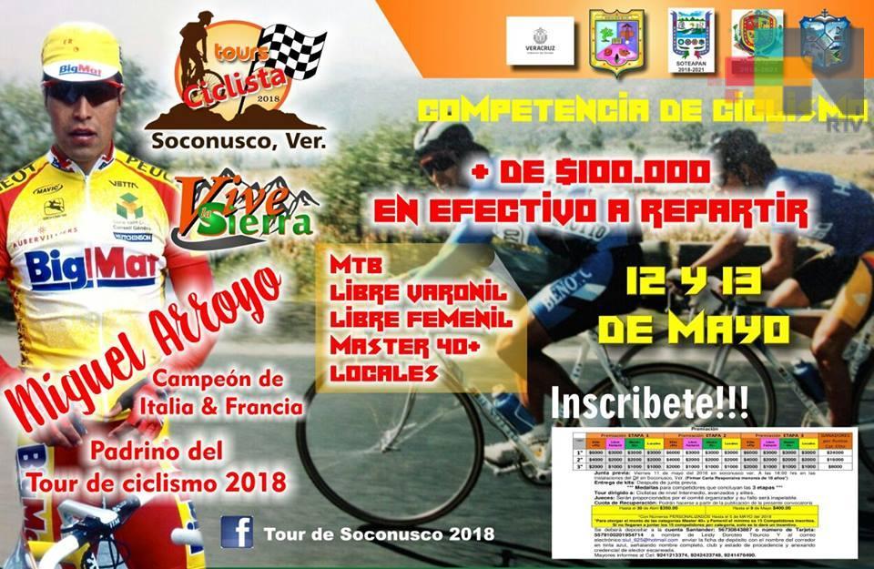 """Todo está listo para el tour ciclista «Vive la Sierra"""", en Soconusco"""