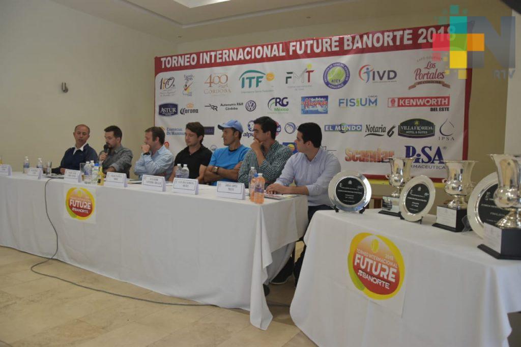 Torneo Future Banorte 2018 reunirá a los mejores tenistas nacionales del mundo