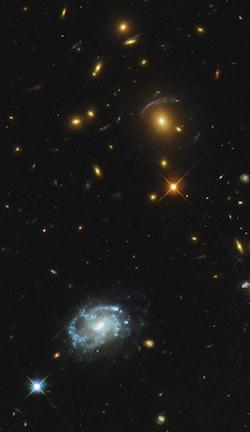 Agencia Espacial Europea muestra galaxia espiral en la constelación Leo