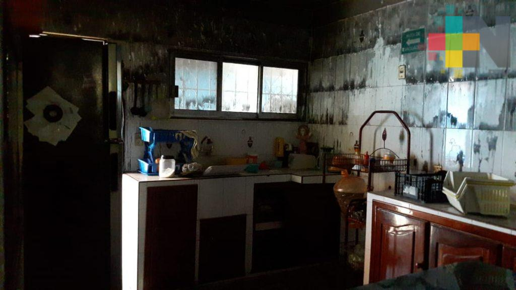 Incendio consumió instalaciones de estancia infantil en Veracruz puerto