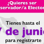 Amplían plazo hasta el 7 de junio para participar como Observador Electoral: INE