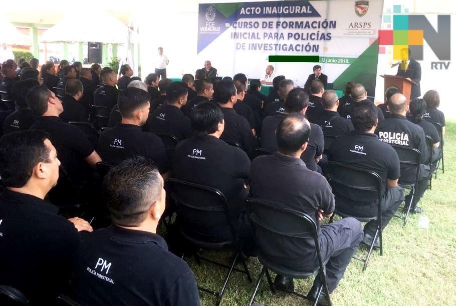 Inicia FGE  curso de Formación Inicial para Policía Ministerial