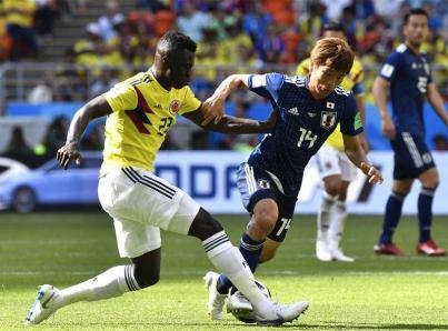 Japón vence 2-1 a Colombia, que jugó con 10 hombres desde el minuto tres