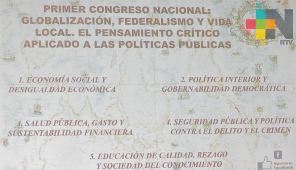 """Realizan congreso nacional """"Globalización, federalismo y vida local"""""""