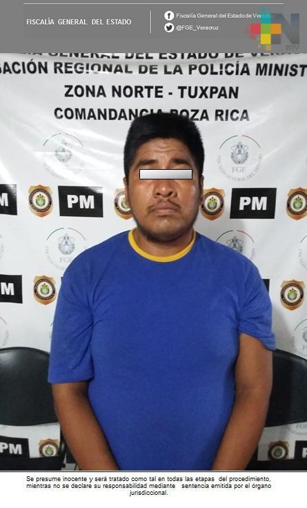 Esclarece Fiscalía Regional Tuxpan homicidio, un detenido