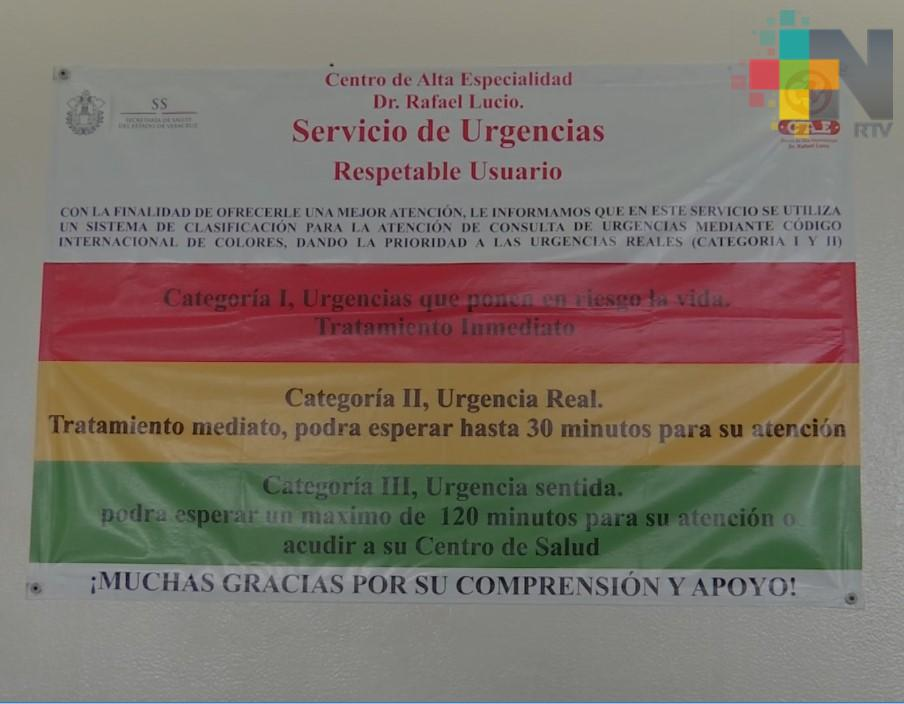 TRIAGE clasifica gravedad y problema de salud en hospitales del país