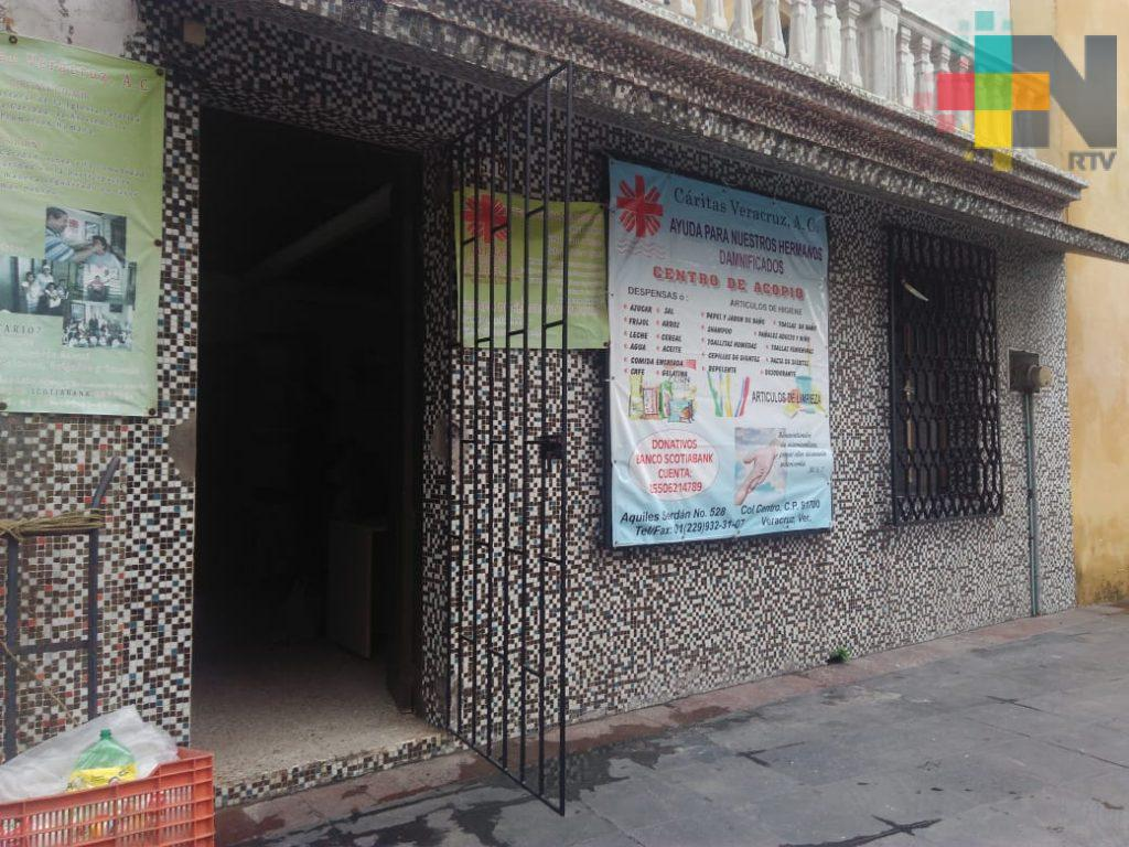 Roban instalaciones de Cáritas de Veracruz