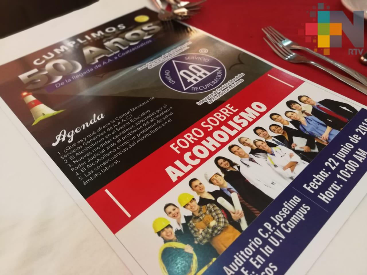 En Coatzacoalcos organización realizará foro sobre alcoholismo