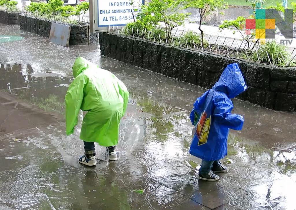 Lluvias y tormentas fuertes se prevén en municipios del centro y sur de Veracruz