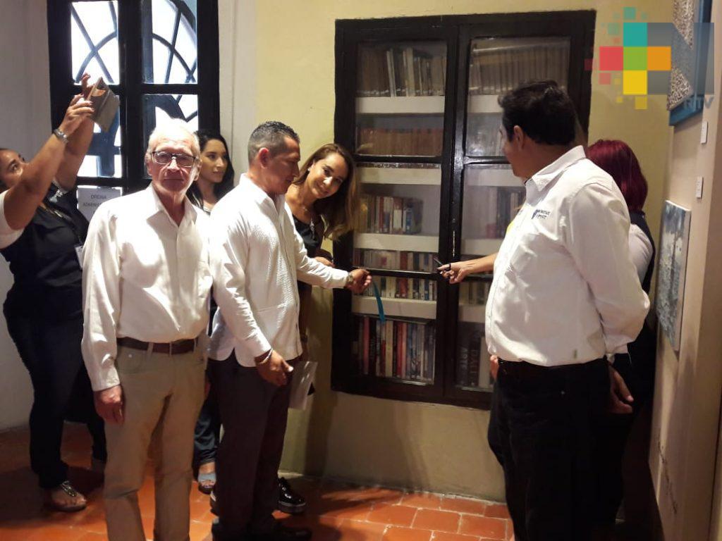 Inauguran biblioteca en museo Salvador Díaz Mirón de Veracruz