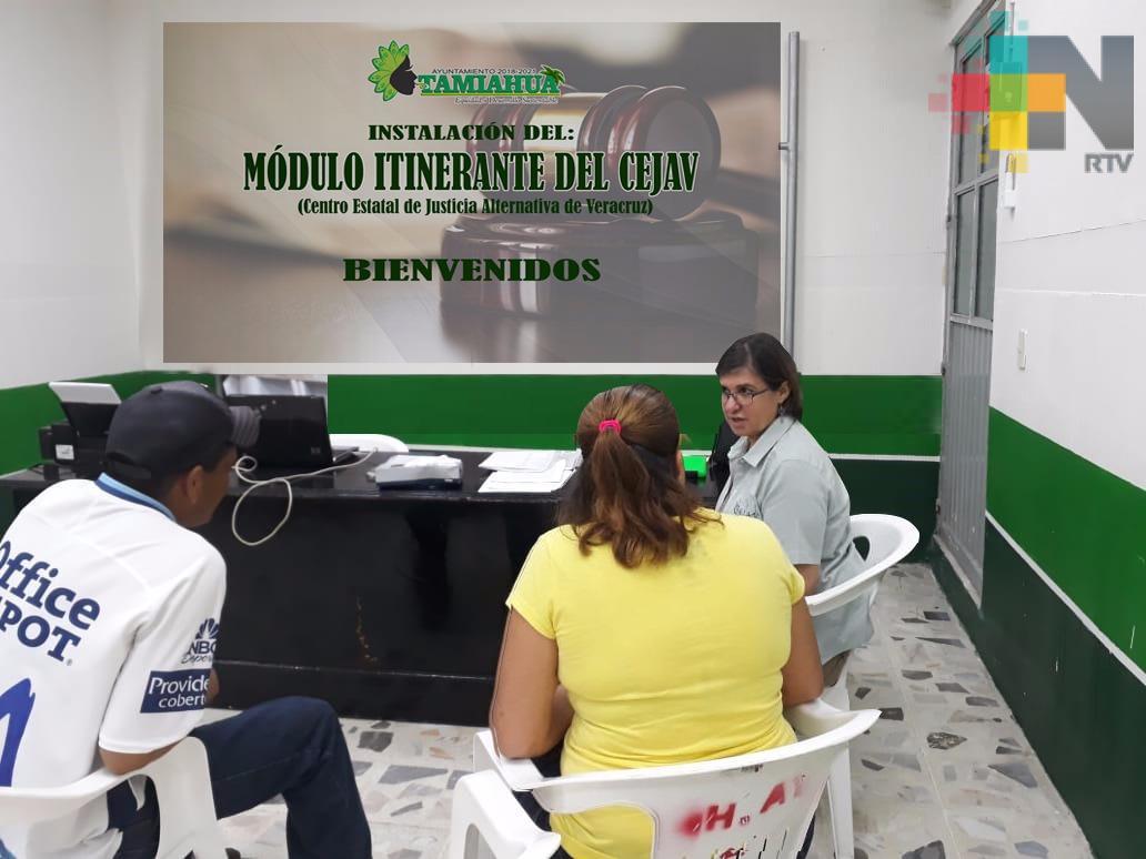 Llevan módulo itinerante del Centro Estatal de Justicia Alternativa de Veracruz a Tamiahua