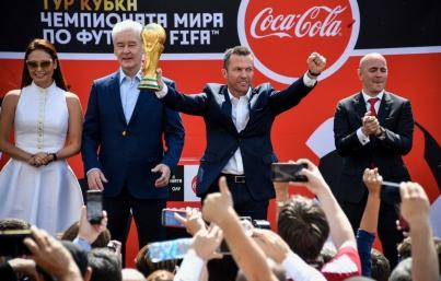 Trofeo de la Copa del Mundo ya se encuentra en Rusia