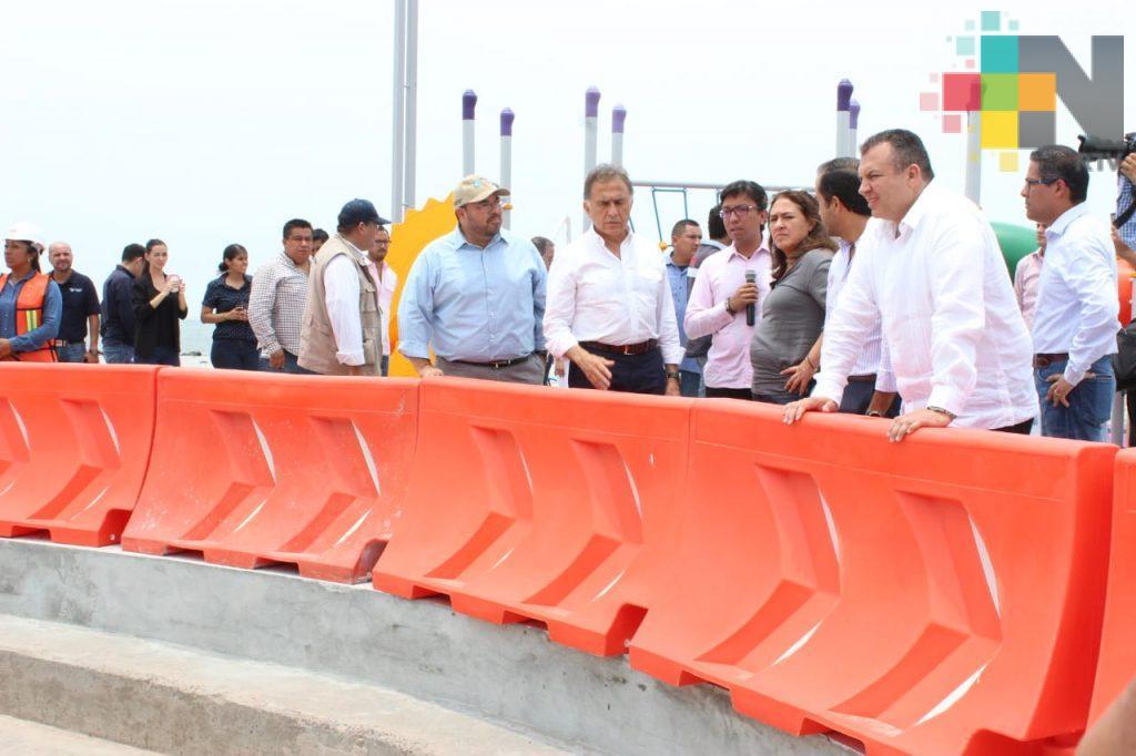 Avanzan trabajos en vías de comunicación en el puerto de Veracruz