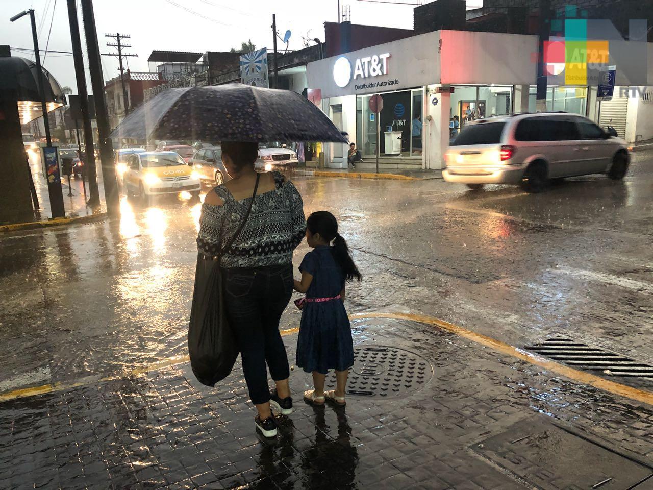 Incremento en precipitaciones durante los primeros días de esta semana