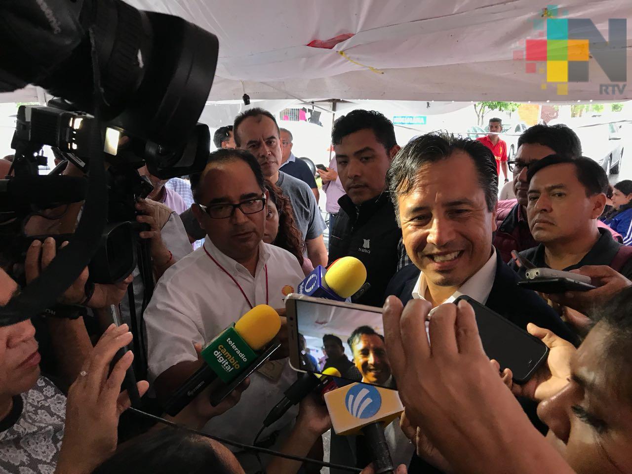 Este domingo Cuitláhuac García recibirá constancia de mayoría