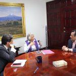 Se reúne Cuitláhuac con Olga Sánchez Cordero, Secretaria de Gobernación de AMLO
