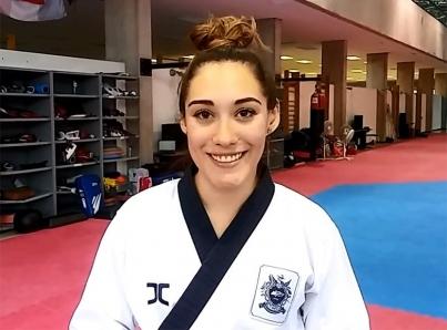 Mexicana Daniela Rodríguez con histórico oro en taekwondo de formas en JCC