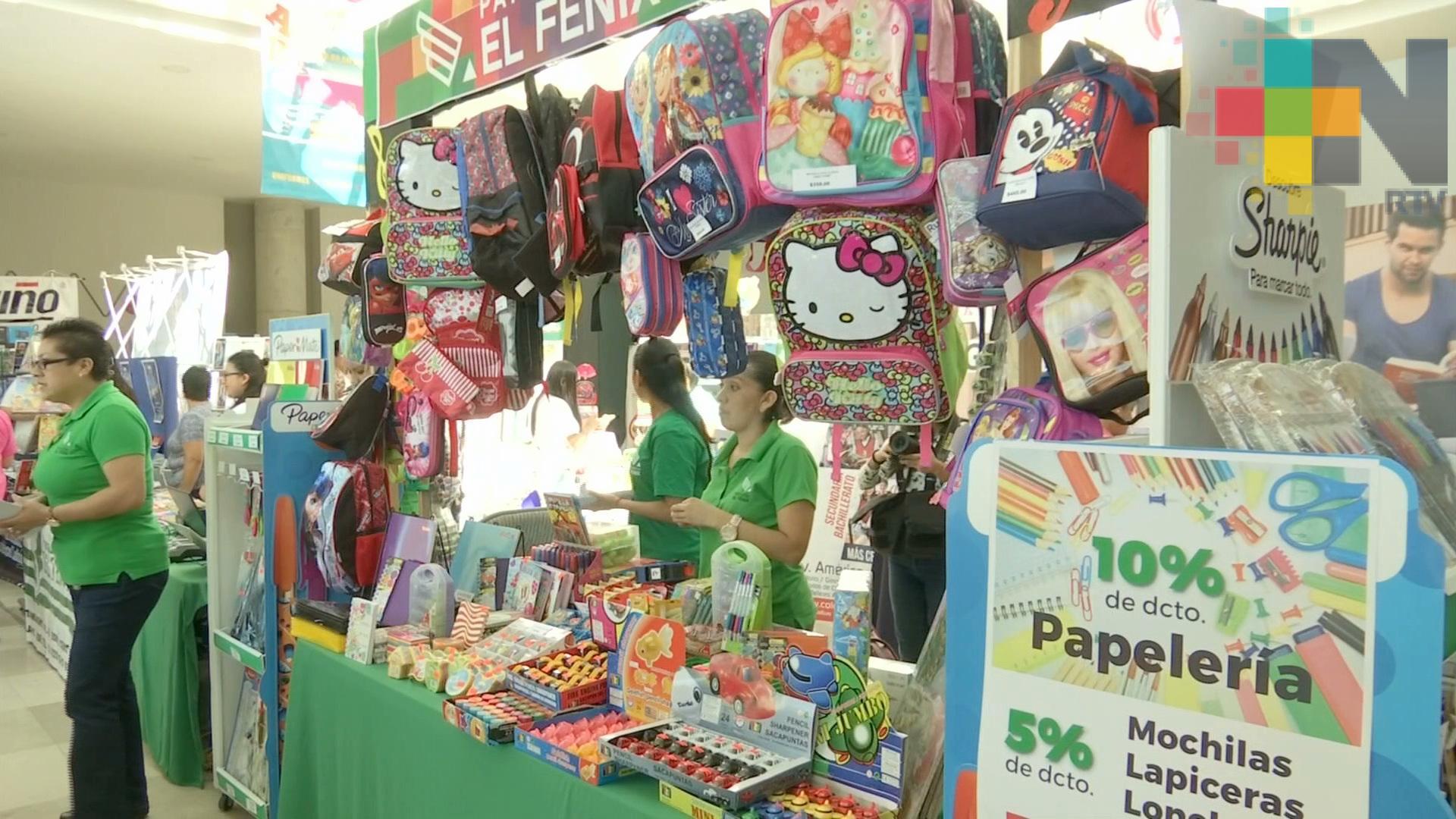 Incrementan 50% las ventas del comercio local relacionadas con útiles escolares: Canaco Xalapa