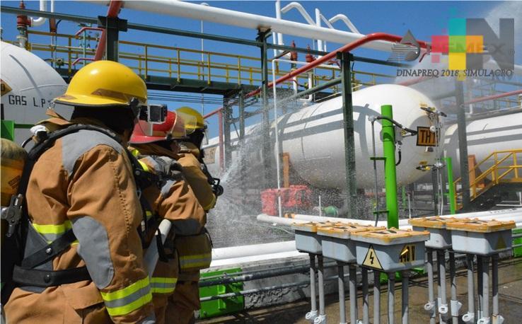 Pemex realiza 99 simulacros exitosos como parte del Día Nacional de Respuesta a Emergencias Químicas