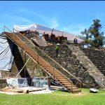 Especialistas del INAH descubren restos de un templo al interior de la pirámide de Teopanzolco, en Morelos