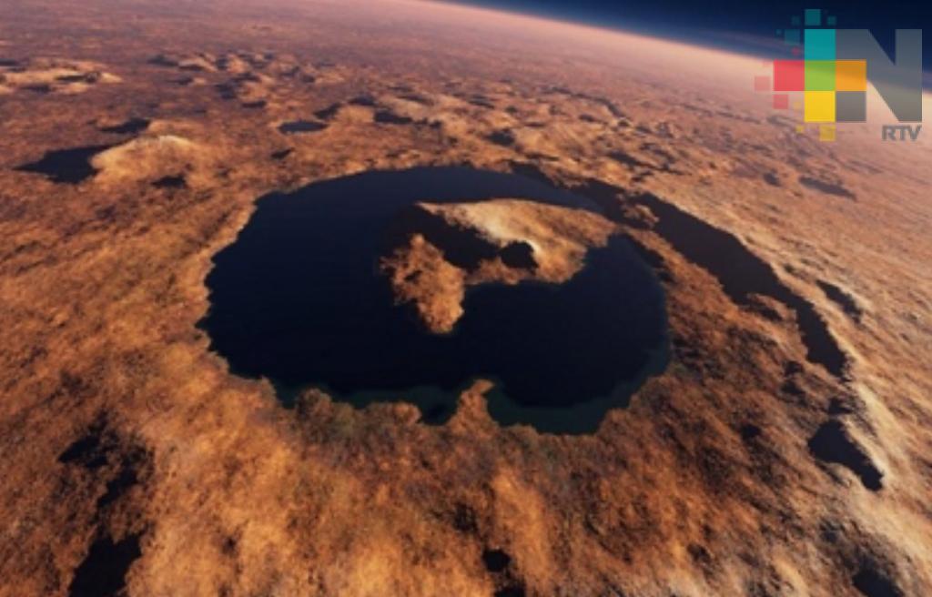 NASA muestra cráter con características de un lago en Marte