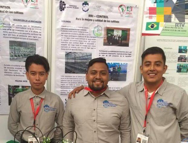Alumnos del Tecnológico de Tierra Blanca participan en Expo Ciencias, en Chile