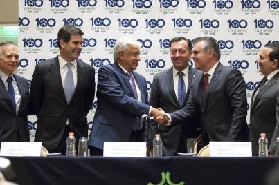 Concamin y López Obrador acuerdan trabajar en una política industrial