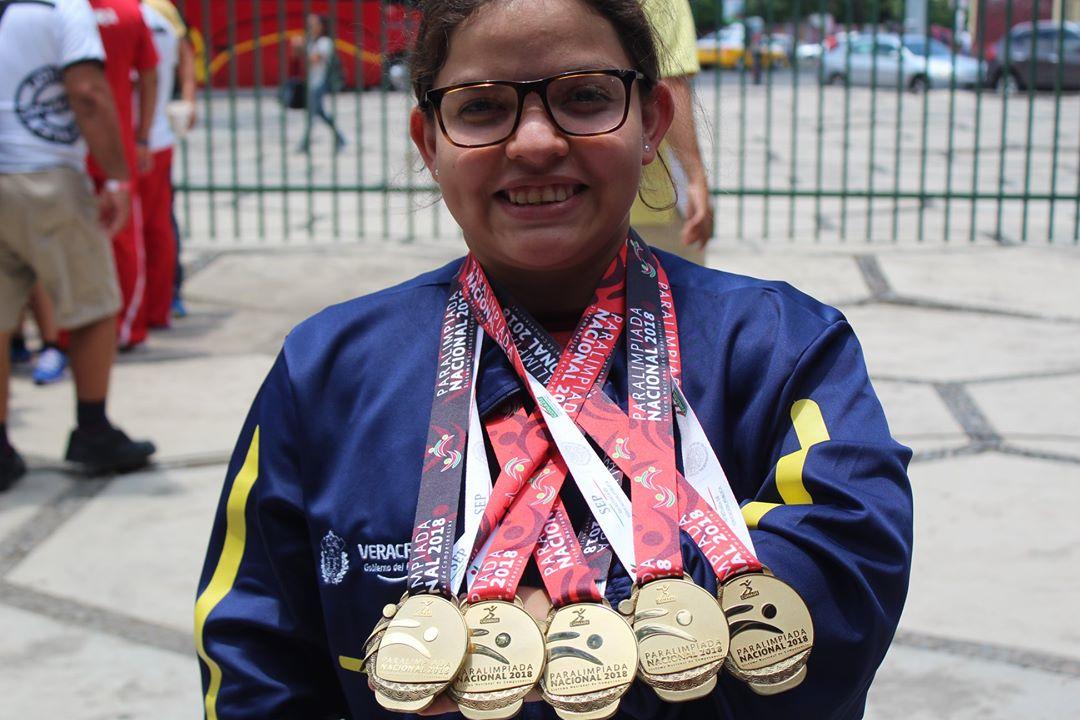 Cierra para-natación de PON con ocho medallas de Veracruz
