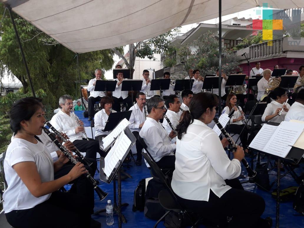 En Martínez de la Torre disfrutaron de la Banda Sinfónica del Gobierno del Estado