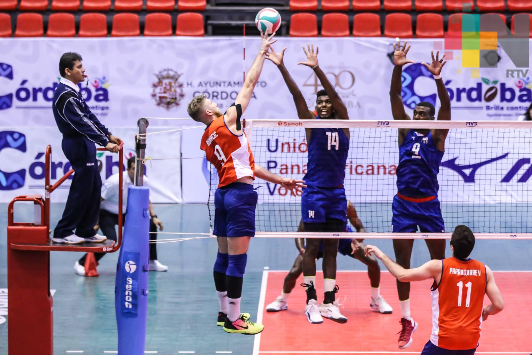 Gana Estados Unidos partido debut de la XIII Copa Panamericana de Voleibol Masculino