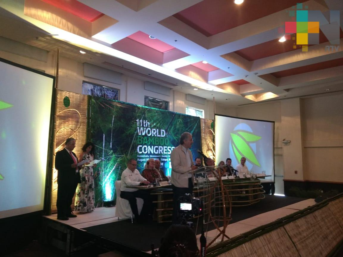Inauguran el 11º Congreso Mundial del Bambú, se llevará a cabo del 14 al 18 de agosto