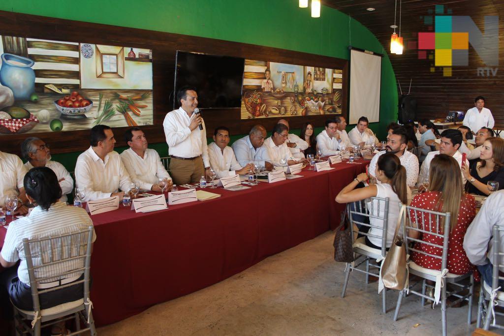 Impulsaremos el desarrollo regional con el apoyo de los empresarios veracruzanos: Cuitláhuac García