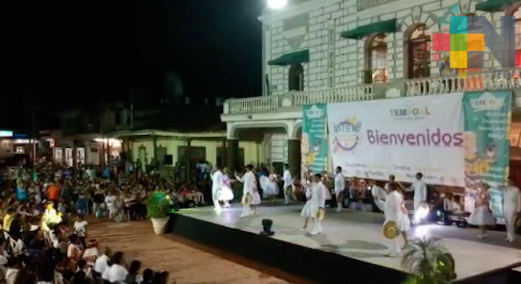 Concluye el Festival Mitote Folclórico Nacional en Tempoal